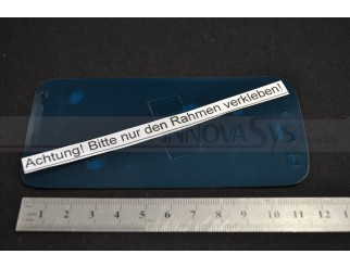 Klebefolie für Samsung Galaxy S4 Mini i9190 +  i9195 Frontscheibe