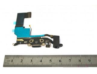 Docking port mit Kopfhörerbuchse und Flexkabel für iPhone 5S schwarz