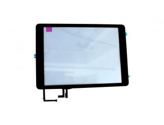 HQ Premium Frontscheibe + Touchscreen für iPad Air, schwarz mit Home Button montiert