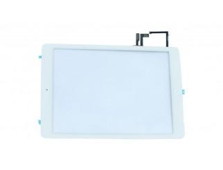 HQ Premium Frontscheibe + Touchscreen für iPad Air, weiss mit Home Button, montiert