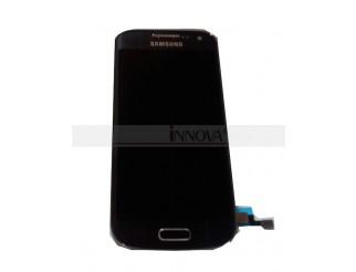 Display für Samsung Galaxy S4 Mini (9195 LTE) Touchscreen, LCD + Rahmen in schwarz/nachtblau