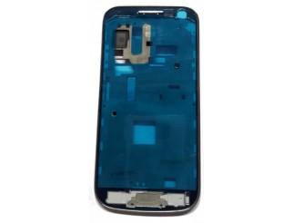 Frontrahmen für Samsung Galaxy S4 Mini LTE i9195 in silber