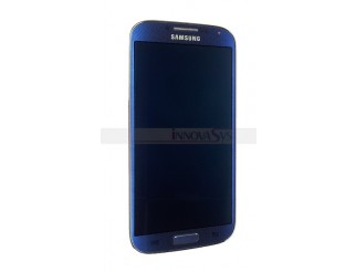 Display für Samsung Galaxy S4 (9505 LTE) Touchscreen, LCD + Rahmen in Artik blau
