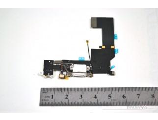Docking Port (USB Lightning) mit Kopfhörerbuchse für iPhone 5S in weiss