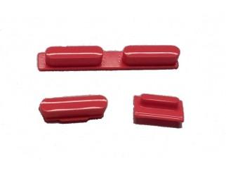 Button Set für iPhone 5C in rot (Lautstärke, Stummschaltung, Powerknopf)