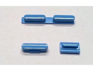 Button Set für iPhone 5C in blau (Lautstärke, Stummschaltung, Powerknopf)