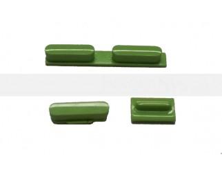 Button Set in grün (Lautstärke, Stummschaltung, Powerknopf) für iPhone 5C