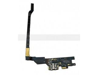 Micro USB Buchse + Mikrofon Flex + Gummi für Samsung GT-I9505 Galaxy S4
