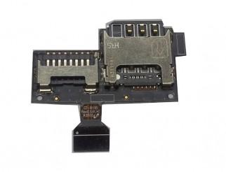 Sim Kartenleser und Speicherkartenslot für SAMSUNG GALAXY S4 Mini i9190