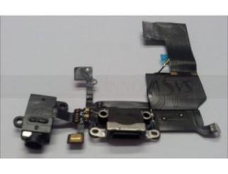 Docking port mit Kopfhörerbuchse und Flexkabel für iPhone 5C schwarz