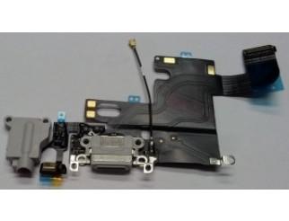 Docking port mit Kopfhörerbuchse und Flexkabel für iPhone 6 weiß