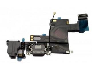 Docking port mit Kopfhörerbuchse und Flexkabel für iPhone 6 grau