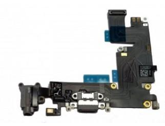 Docking port mit Kopfhörerbuchse und Flexkabel für iPhone 6+ grau