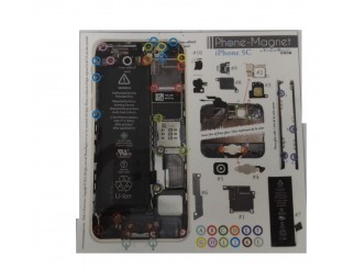 Phone-Magnet : iPhone 5C Magnetische Profi-Schraubenaufbewahrung