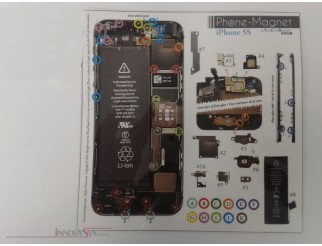 Phone-Magnet : Magnetische Profi-Schraubenaufbewahrung für iPhone 5S