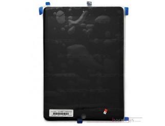 Premium Frontscheibe + Touchscreen mit Home Button montiert, für iPad Air 2, schwarz