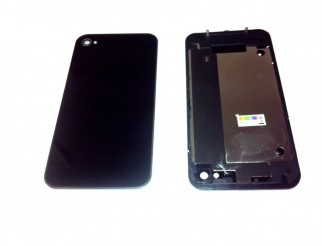 Premium Rückschale für iPhone 4, schwarz