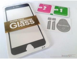 Premium Panzer Glas / Display-Schutzglas 9H für iPhone 6+ schwarz
