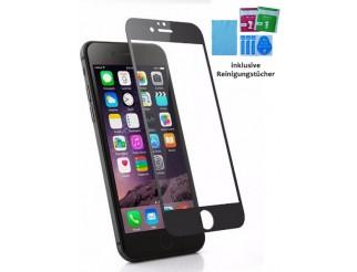 Panzer Schutzfolie / Display-Schutzglas 9H für iPhone 6+/6S+ schwarz HQ Premium - Qualität