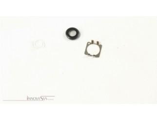 Kameralinse (hinten) mit Ring für iPhone 6 in schwarz