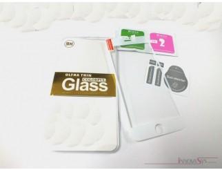 Premium Panzer Glas / Display-Schutzglas 9H für iPhone 6+ weiss