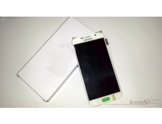 Display für Samsung Galaxy S6 SM-G920F (GH97-17260B) Touchscreen, LCD + Rahmen in weiss