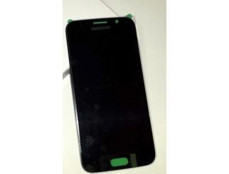 Display für Samsung Galaxy S6 in schwarz sapphire SM-G920F (GH97-17260A) Touchscreen, LCD + Rahmen