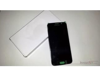 Display für Samsung Galaxy S6 SM-G920F (GH97-17260A) Touchscreen, LCD + Rahmen in schwarz sapphire