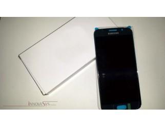 Display für Samsung Galaxy S6 SM-G920F (GH97-17260D) Touchscreen, LCD + Rahmen in blau topaz