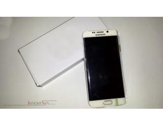 Display für Samsung Galaxy S6 Edge SM-G925F (GH97-17162B) Touchscreen, LCD + Rahmen in weiss