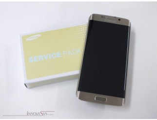 Display für Samsung Galaxy S6 Edge SM-G925F (GH97-17162C) Touchscreen, LCD + Rahmen in gold