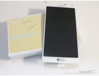 Display für Samsung Galaxy Note 4 (N910F) Touchscreen, LCD + Rahmen in weiss GH97-16565A