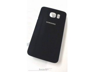 Samsung Galaxy S6 G920F Akkudeckel Glas schwarz sapphire Backcover Rückseite