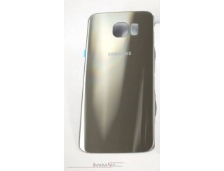 Samsung Galaxy S6 G920F Akkudeckel Glas gold Backcover Rückseite