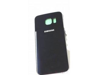 Samsung Galaxy S6 Edge G925F Akkudeckel Glas schwarz sapphire Backcover Rückseite