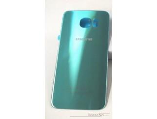 Samsung Galaxy S6 G920F Akkudeckel Glas blau topaz Backcover Rückseite