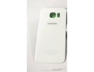 Samsung Galaxy S6 Edge G925F Akkudeckel Glas weiss Backcover Rückseite