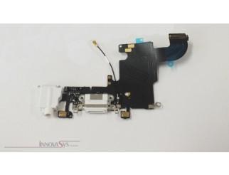 Docking Port (USB Lightning) mit Kopfhörerbuchse für iPhone 6S in weiss