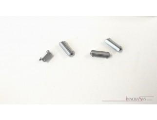 Button Set (Lautstärke, Stummschaltung, Powerknopf) grau für schwarzes iPhone 6S
