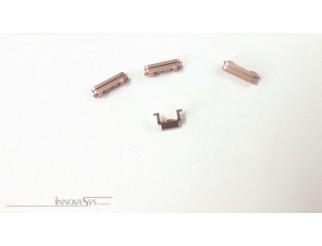 Button Set (Lautstärke, Stummschaltung, Powerknopf) silber für rosa-goldenes iPhone 6S
