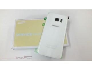 Samsung Galaxy S7 G930F Akkudeckel Glas weiss Backcover Rückseite GH82-11384D
