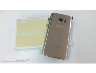 Samsung Galaxy S7 G930F Akkudeckel Glas gold Backcover Rückseite GH82-11384C