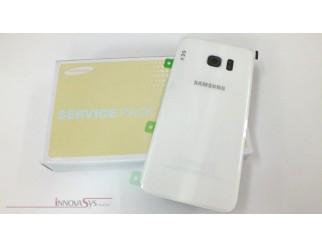 Samsung Galaxy S7 Edge G935F Akkudeckel Glas weiss Backcover Rückseite GH82-11346D