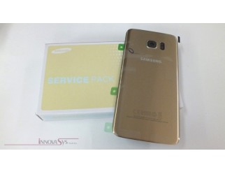 Samsung Galaxy S7 Edge G935F Akkudeckel Glas gold Backcover Rückseite GH82-11346C