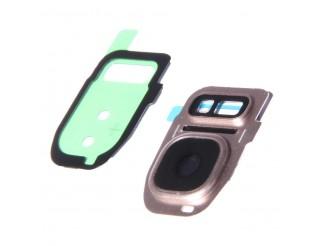 Kamera Linse (Glas) mit Rahmen (hinten) für Samsung Galaxy S7 Edge, gold