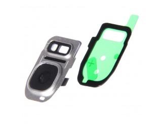 Kamera Linse (Glas) mit Rahmen (hinten) für Samsung Galaxy S7, silber