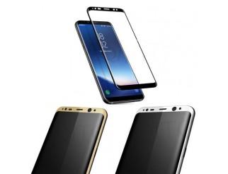 Panzer Schutzfolie 4D für Samsung Galaxy S8 / Display-Schutzglas 9H HQ Premium