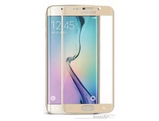 Premium Panzer Glas / Display-Schutzglas 9H für Samsung Galaxy S7 Edge Gold