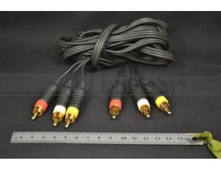 AV-Kabel 3 Cinch-Stecker (Audio stereo + Composite) 3 m
