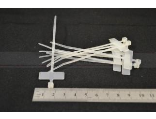 Kabelbinder mit Beschriftunsfeld weiss Set mit 10 Stück